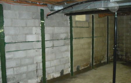 Bowed Basement Wall Repair